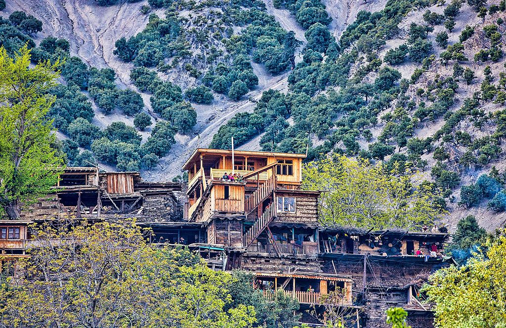 Typical homes in the Kalasha Valleys - All about Kalash Valley
