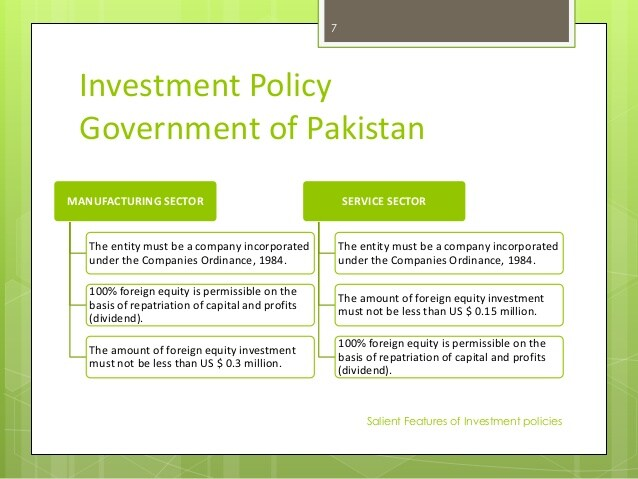 pakistan investment policies for foreign companies and investors - Pakistan  Investment Policy